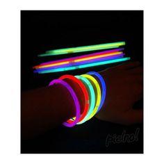 Tube de 100 bracelets fluo lumineux