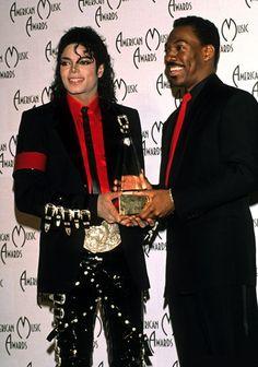 Michael Jackson & Eddie Murphy at the American Music Awards