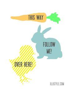 Easter Egg Hunt Printables - illistyle.com for OvertheBigMoon