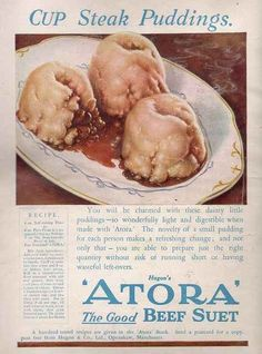 These look like props from a murder movie. Atora Steak Puddings | 21 Truly Upsetting Vintage Recipes
