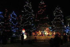 Christmas in Central Park, Spruce Grove, Alberta. Where we would go skating in the winter and play in the giant fountain in summer.
