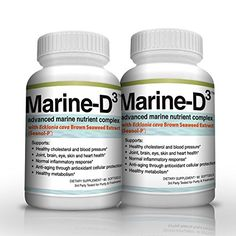 Vitamin D3 Omega 3 Fish Oil DHA 340mg Supplement by Marine Essentials 120 Soft Gel Caps *** Check out this great product.