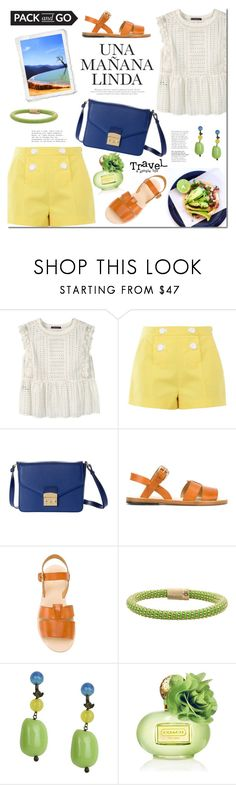 """Pack and Go: Mexico City"" by mada-malureanu ❤ liked on Polyvore featuring Violeta by Mango, Boutique Moschino, A.P.C., Carolina Bucci, Donatella Pellini, Coach, Packandgo, Dudu and dudubags"