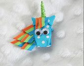 Ray the Unicorn Ribbon Sculpture Hair Clip