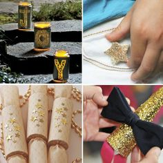 New Year's Gold and Sparkly Ideas by @Spoonful  #nye #craft