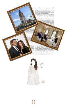 """Princess Felicja attending her Civil Wedding at Krakow Town Hall."" by matylda-ofpoland ❤ liked on Polyvore featuring Rime Arodaky, Coast, Christian Louboutin, Effy Jewelry and Allura"