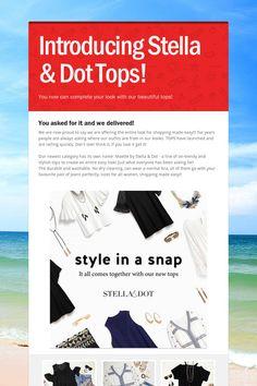 Introducing Stella & Dot Tops!