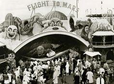 Flight To Mars amusement ride at the World's Fair, Seattle, 1962.