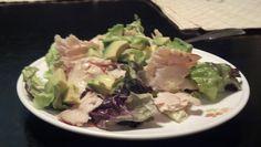 Day 12 dinner: romaine, turkey, avocado, dijon mustard dressing (homemade)