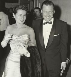 William Holden and Brenda Marshall (Academy Awards, 1954)