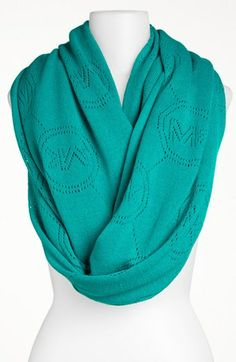 MICHAEL Michael Kors 'Jet Set' Monogram Infinity Scarf available at #Nordstrom