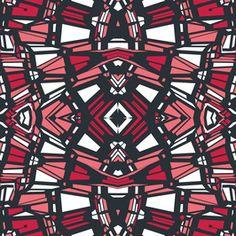 Tribal Geo 3 by Petroula Tsipitori Seamless Repeat Vector Royalty-Free Stock Pattern