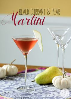 Black Currant & Pear Martini | Elegant Fall-Inspired Cocktails from Inspired by Charm for SodaStream