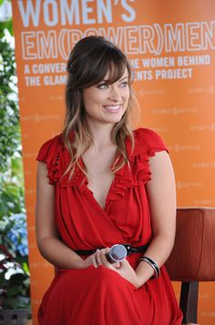 olivia wilde, long hair and bangs
