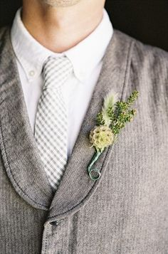 Boutonniere  #Gray #wedding #ideas … Wedding ideas for brides, grooms, parents & planners https://itunes.apple.com/us/app/the-gold-wedding-planner/id498112599?ls=1=8 … plus how to organise an entire wedding, without overspending. More wedding ideas http://pinterest.com/groomsandbrides/boards/ ♥ The Gold Wedding Planner iPhone #App ♥ #wedding #ceremony #reception #rustic #country #bride #bridesmaids #groom #invitations #bouquets #bling #silver #tables #cake #favors #white #grey