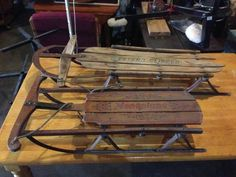 Antique wooden snow sleds $175 or best offer. - $175 for Sale in Houston, New Hampshire Classified | AmericanListed.com