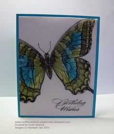 stampin up swallowtail butterfly cards | Swallowtail on Vellum - Stamping on Vellum