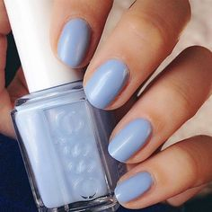 8 Gorgeous Ways to Wear Pantone's 2016 Color of the Year: Serenity-inspired nail polish.