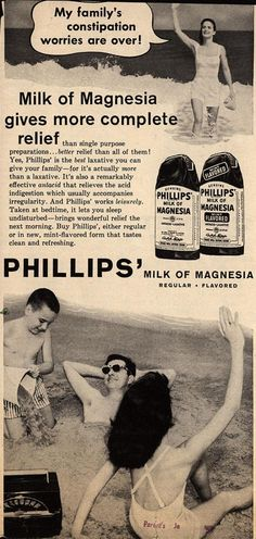 Chas. H. Phillips Chemical Co.'s Milk of Magnesia – My family's constipation worries are over (1958)