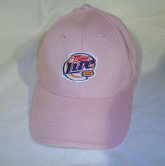 7ac81328e0e Pink Miller High Life Baseball Hat Ladies Beer