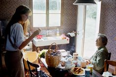 Jane and Serge In Normandy, 1977. (note the toilet paper, ha!)