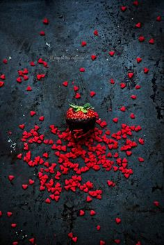 Will you be my Valentine?  Valentines Day. Chocolate Strawberry. Red Hearts. Love. Romantic. Red Confetti. Heart Confetti. Seductive. My Bleeding Heart. Day of Love. Deliciously Red.