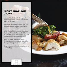 Soho House recipe - Nick's no-flour gravy #sohohouse #christmas #recipe #eatdrinknap #merrychristmas #glutenfree