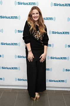 Actress Drew Barrymore visits the SiriusXM studio on January 27, 2017 in New York City.