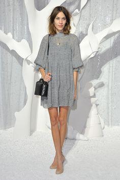 Alexa Chung at Paris Fashion Week.