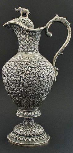 Beautiful silver pitcher