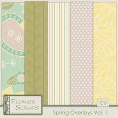 Spring Overlays Vol 1. - $2.99 : Digital Scrapbooking Studio