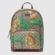 GUCCI Gucci Bengal Gg Supreme Backpack. #gucci #bags #leather #canvas #backpacks #