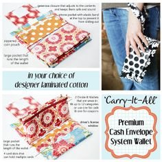 Carry It All Cash Envelope System Wallet for Dave Ramsey, Crown, etc. cash budgeting (limited number available)
