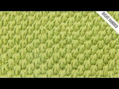 The Tunisian Ocean Stitch:: Tunisian Crochet Stitch #12 :: Right Handed - YouTube