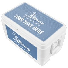 Personalized fishing and boating ice chest cooler