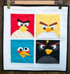 Angry Bird quilt! I would be my son's HERO if I made this.