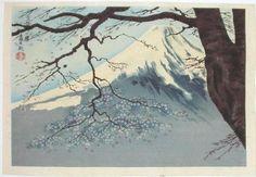 Tokuriki Tomikichiro, Mt Fuji and Cherry Tree