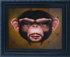 """Ken Keirns  """"Eddie""""  2009, Oil on board  11 x 14 inches  framed to 14.5 x 17.5 inches"""