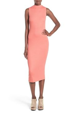 Leith Mock Neck Midi Dress available at #Nordstrom