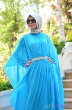 Sefamerve, Sefamerve Elbise 40849-03 Mavi