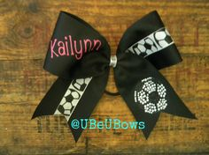 Hey, I found this really awesome Etsy listing at https://www.etsy.com/listing/198428800/custom-soccer-hair-bow