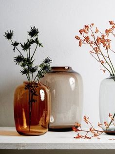 Corotos Market, love these round vases, orange copper color glass flower vase, c.
