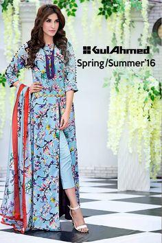 Gul Ahmed Soya Silk Collection SpringSummer 2016