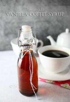 Homemade Vanilla Coffee Syrup