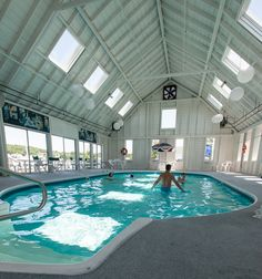 After a fun-filled day, relax in the Rocktide Inn indoor Pool.