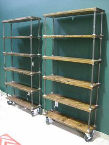 Great Plumber Pipe Bookcase On Casters