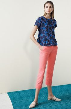 Halogen® Top & Crop Pants Outfit with Accessories available at #Nordstrom