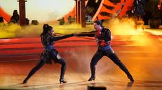 Normani and @iamValC at #DWTS