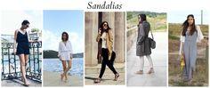 Looks y outfits con sandalias planas #moda #fashion #bolsos #bags #zapatos #shoes #marroquineria #leathergoods #cinturones #belts #accesorios #carteras
