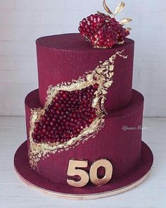 Many individuals don't think about going into company when they begin cake decorating. Many folks begin a house cake decorating com Fancy Cakes, Cute Cakes, Pretty Cakes, Beautiful Cakes, Amazing Cakes, Bolo Geode, Geode Cake, Fondant Cakes, Cupcake Cakes